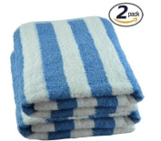 Egyptian Towels 2pc Luxury CABANA Beach Towels, BLUE