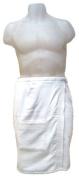 Men's Body Wrap-White, 100% Cotton, Machine washable.