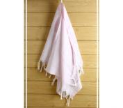 "Hand Face Turkish Towel Pestemal 60cm X 90cm Peshtemal Fouta Kitchen Baby Care by Cacala ""Baby Pink"""