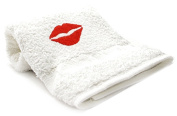 """red Lips"" Embroid Towel"
