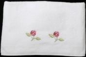 Bath Towel in a Rennie Mack Pink Rose Design