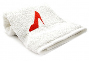 """red Pump"" Embroid Towel"
