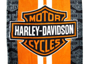 Harley-Davidson Racing Stripes Beach Towel 80cm . X 150cm .