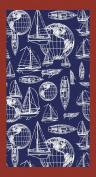 Classic Nautical, Velour Beach Towel 100cm x 180cm , MADE IN BRAZIL