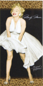 Marilyn Monroe White Dress with Leopard Prints Beach Towel 80cm x 150cm 100% Cotton + Free Tote Bag