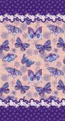 New Butterflies, Velour Beach Towel, 100cm x 180cm , MADE IN BRAZIL