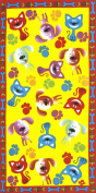 Cat and Dog, Velour Beach Towel 80cm x 150cm - MADE IN BRAZIL