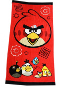 Red and Black TNT Angry Birds Bath and Beach Towel for Kids