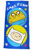 Blue Jake and Finn Adventure Time Beach and Bath Towel for Kids