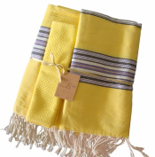 Scents and Feel 100-Percent Cotton Set of Beach Fouta Towels with Carrying Bag