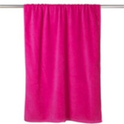 Ultraclub Velour Beach Towel, Hot Pink, One