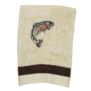 Bacova Guild Born to Fish Fingertip towel