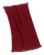 Port & Company Grommeted Fingertip Dry Towel, Red, One Size