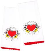 Sourpuss Clothing Yours/Mine Tea Towel Set
