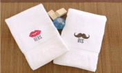Embroidered His and Hers Hand Towels