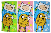 3 Piece Assorted Finn and Jake Adventure Time Hand Towels