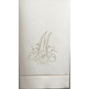 Embroidery Linen Hand Towel Letter