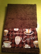 New HandMade Coffee Java Cappuccino Guest Hand Towel