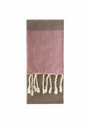 Nine Space Aegean Turkish Fouta Hand Towel, 80cm by 38cm , Chocolate