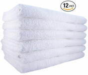 Utopia Towels 22 x 44 Bath Towels 100% Cotton, Soft, and Absorbent 12 Pack