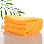 Housweety Orange Yellow 1 Pc Nano Microfiber Drying Absorbent Bath Towel
