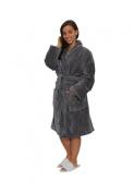Shawl Collar Terry Cotton Adult Bathrobe, Velour Terry Mens, Womens Robe, Grey Colour