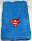 Superman ~ Embroidered Bath Towel ~ Blue