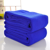 Housweety Dark Blue Nano Microfiber Drying Absorbent Bath Towel, 1 Pc