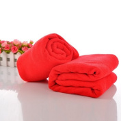 Housweety Red 1 Pc Nano Microfiber Drying Absorbent Bath Towel