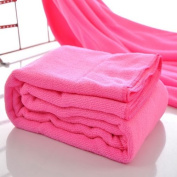 Housweety Pink Nano Microfiber Drying Absorbent Bath Towel, 1 Pc