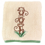 Silly Monkey ~ Embroidered Plush Bath Towel