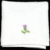 Face Cloth in a Balmoral Thistle Design