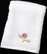 Guest Towel in a Rennie Mack Pink Rose Design