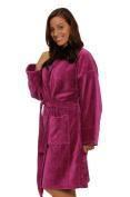 Shawl Collar Terry Cotton Adult Robe, Velour Terry Mens, Womens Robe, Plum Colour Robe