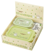 Studio Ghibli My Neighbour Totoro Design Washcloth Towel and 2 Microwavable Small Containers Gift Box Packing