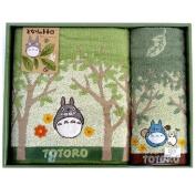 Studio Ghibli My Neighbour Totoro Design Washcloth and Bath Towel Gift Set
