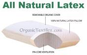 OrganicTextiles All Natural Talalay Latex Organic Encased Pillow - STANDARD SIZE