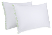 BioPEDIC Sleep Styles Firm Density Gusseted Sidewall Bed Pillow, Standard, White, 2-Pack