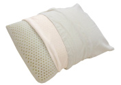 Lifekind Natural Rubber Moulded Pillow with Removable Organic Cotton Cover