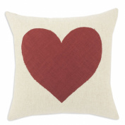 Chooty Linen Natural S-Backed with Linen Heart KE D-Fibre Hypoallergenic Pillow, 43cm by 43cm