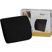 The Travel LumbarCushion by Tempur-pedic with Fabric Cover, Black Fabric Cover