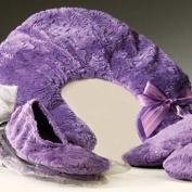 Sonoma Lavender Neck Pillow - Embossed Paisley