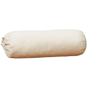 Lifekind Natural Shredded Rubber Neck Roll Customizable Organic Pillow (With Cover)- 41cm x 13cm