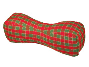 Travel Buddy Neck Support Pillow in Checkers Red and Green, a Christmas Plaid