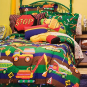 Trucks Bulldozers Toys Boys Reversible Twin Comforter Bed In A Bag Set