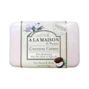 A La Maison Bar Soap Coconut Creme 260ml Argan Coconut Oil Glycerin Shea Butter