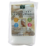 Earth Therapeutics Quick Dry Hair Turban Ultra-Absorbent - 1 Cloth