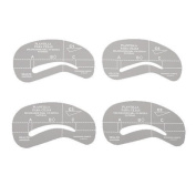 4 Styles Eyebrow Grooming Stencil Kit Template Make Up Guide helper Shaping DIY Beauty Tools AOSTEK
