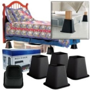 New 4 Pack of Black Bed Risers 15cm As Seen on TV