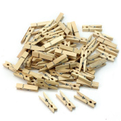 100 Pcs Useful Mini Wooden Clothes Photo Paper Peg Clothespin Craft DIY Clips